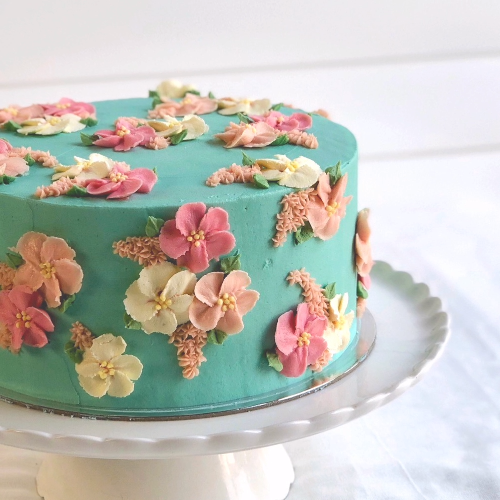 Easy To Make Flower Blossom Cake