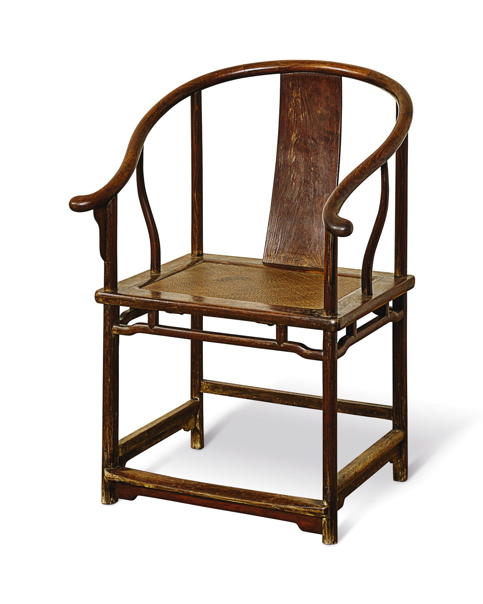 A Huanghuali Continuous Horseshoe Back Armchair Quanyi