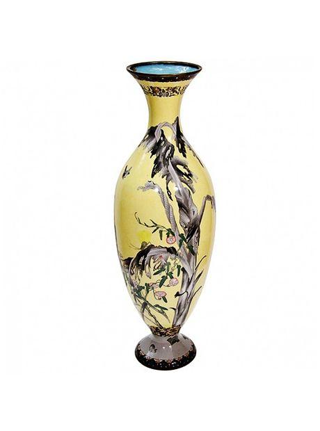 Japanese Cloisonne Yellow Vase | The HighBoy | blog.thehighboy.com