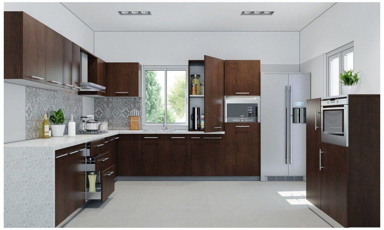 Juniper L shape Kitchen kitchen interior design in india l ...