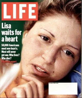 """Waiting for a New Heart - Life Magazine, November 1, 1999 issue - Visit http://oldlifemagazines.com/the-1990s/1999/november-01-1999-life-magazine.html to purchase this issue of Life Magazine. Enter """"pinterest"""" for a 12% discount at checkout. - Waiting for a New Heart"""
