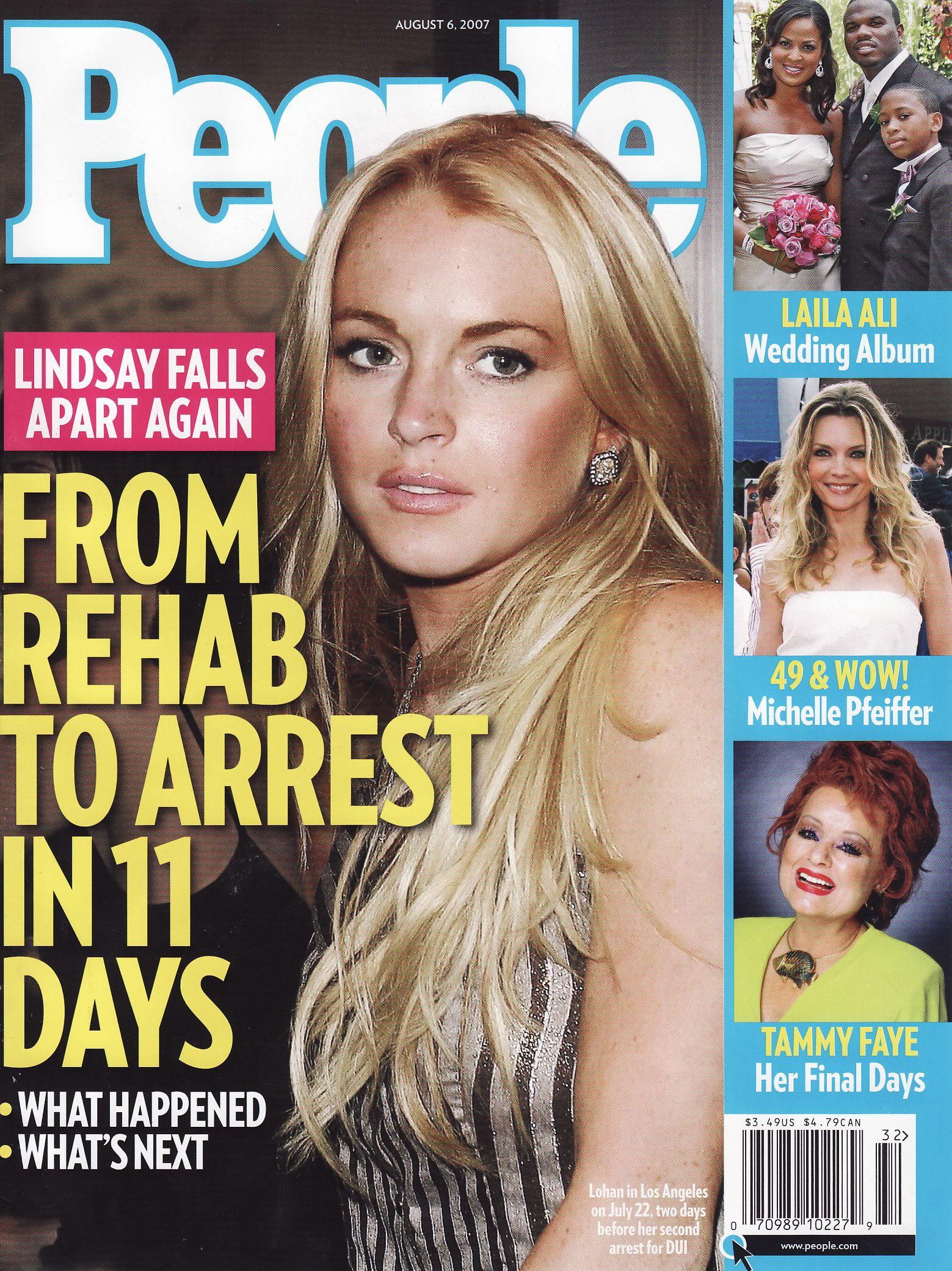 Lindsay Lohan in People Magazine, August 6 2007 | People magazine covers,  People magazine, Lindsay