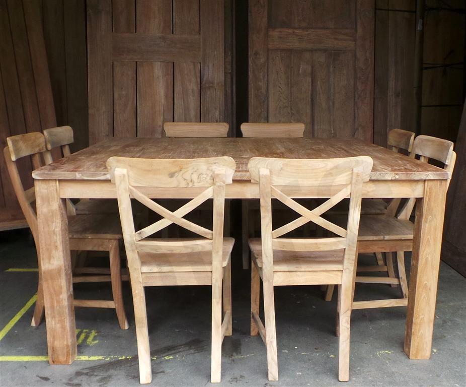Teak Vierkante Eettafel.Teak Tafel Vierkant 160x160 Afbeelding 2 Veranda Keuken