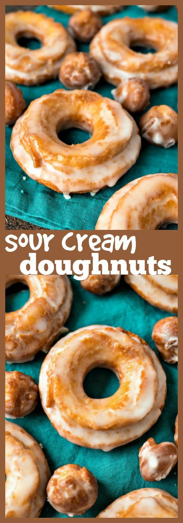 Sour Cream Doughnuts – Dense and crispy on the outside, moist and cakey on the inside, these sour cream doughnuts are your favorite cake doughnuts that are ready in half the time as yeast doughnuts! #recipe #doughnuts #donuts #dessert #breakfast #brunch #CottageCheeseKetoRecipes