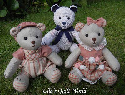 Ulla Steppdecken-Welt: Teddybär und das Muster, Chenille ...