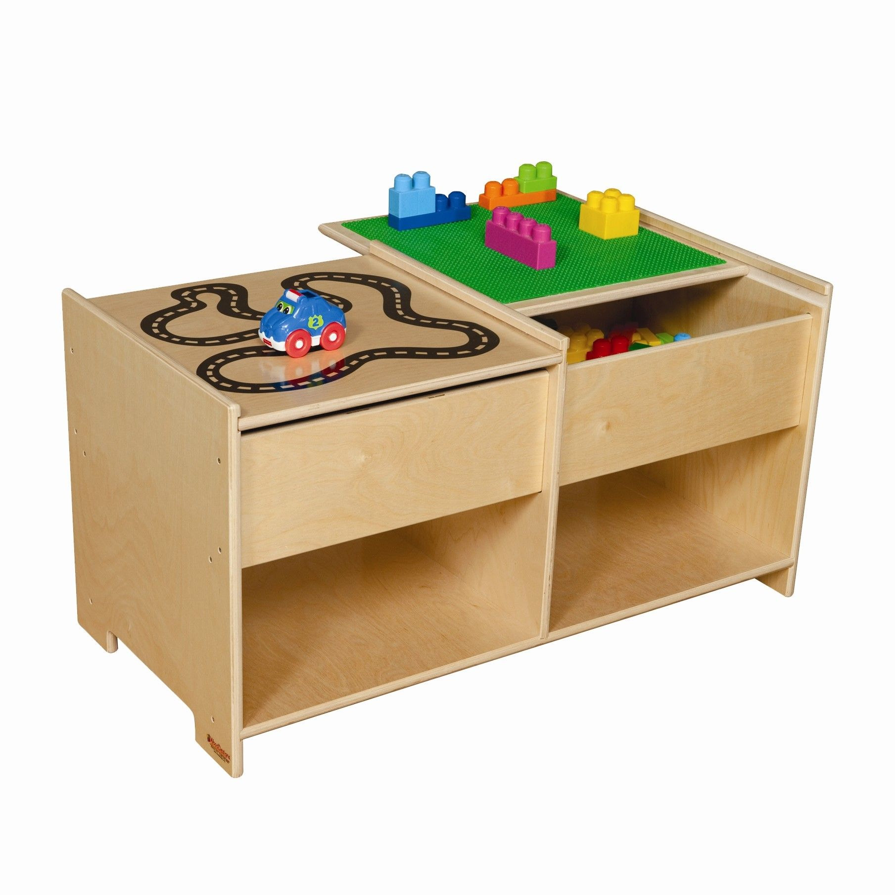 Build N Play Table With Racetrack Spieltisch Holzdesign Und