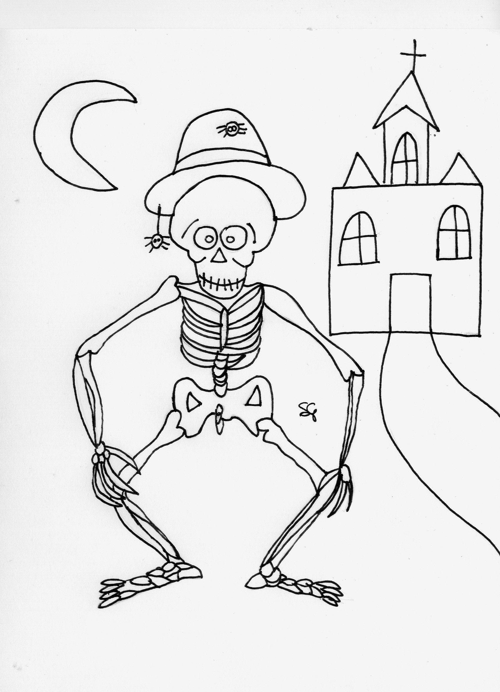Disegni Da Colorare Halloween Scheletri Disegni Da Stampare E Colorare