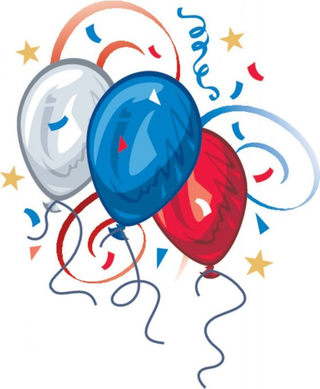 july 4th clipart | Free 4th of July Picture Clipart: A White, Blue ...