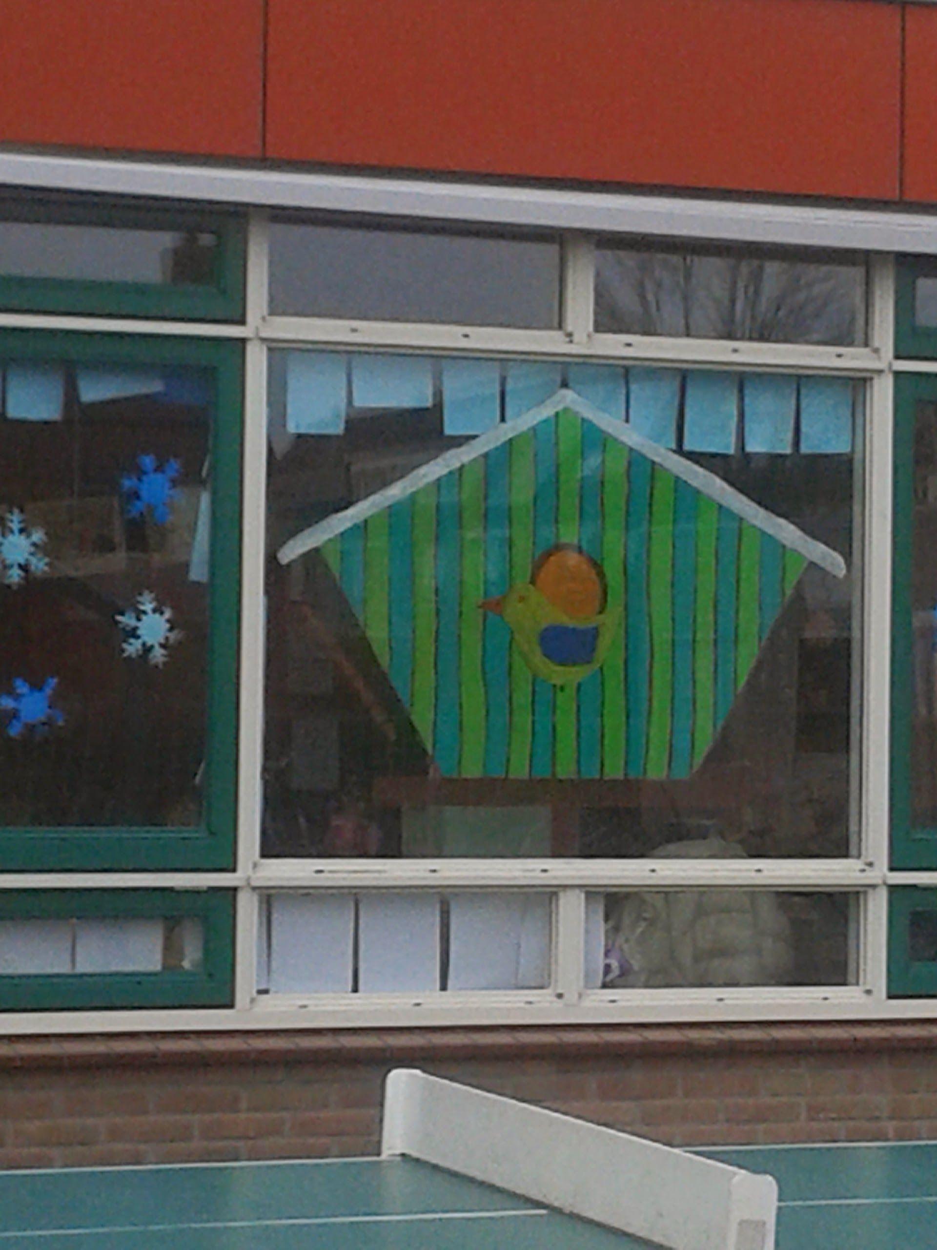 Vogelhuisje a la Pip, gemaakt voor groep 3 van de Rehobothschool