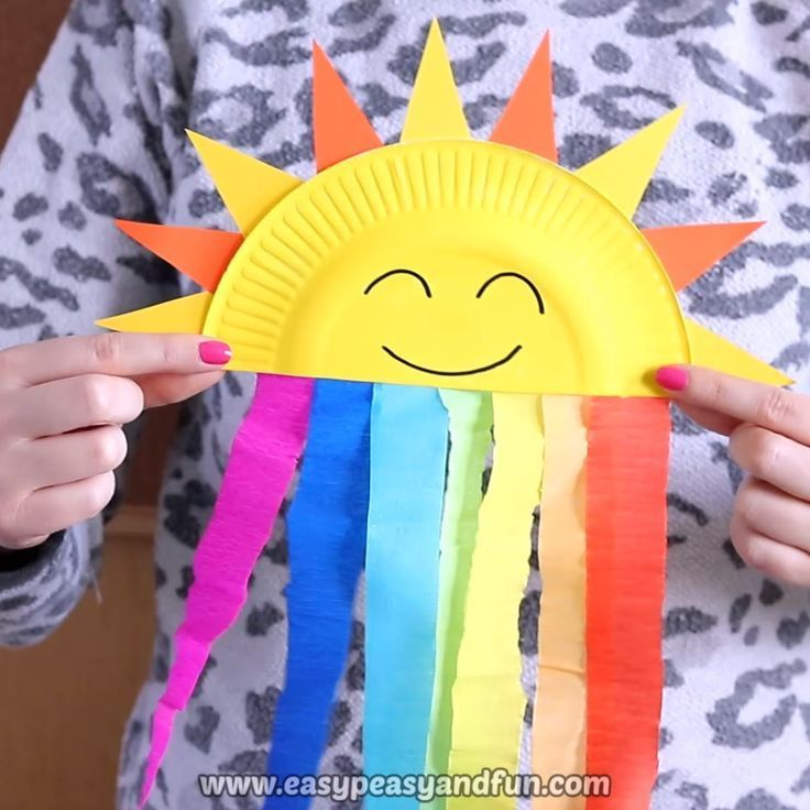 Photo of Paper plate Sun and Rainbow Craft