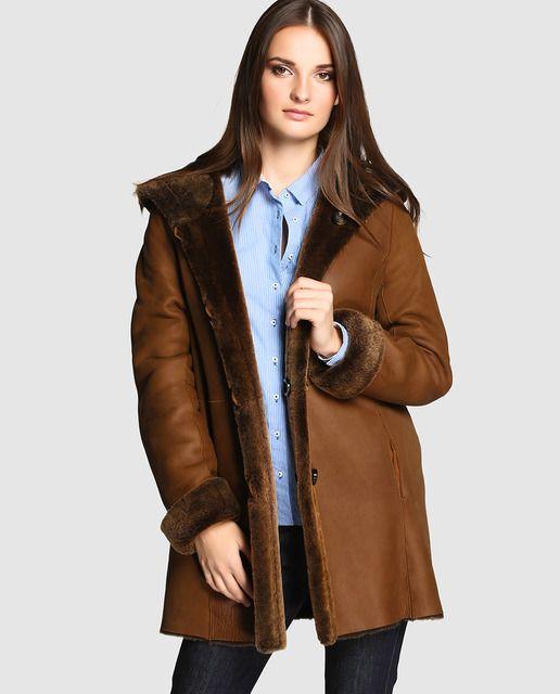 f80d95aabac ABRIGO DE PIEL VUELTA EL CORTE INGLES  abrigo  chaquetadecuero  corte   ingles  vuelta