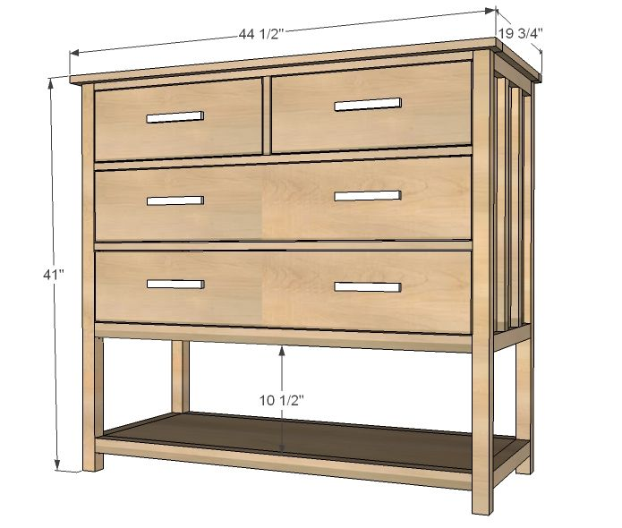 Best Small Dresser With Open Bottom Shelf Cabin Collection 640 x 480