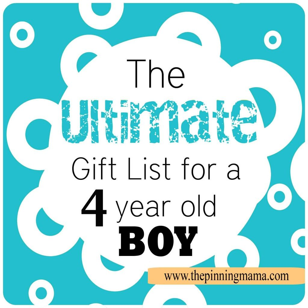 The Ultimate List of Gift Ideas for a 4 Year Old Boy!! Perfect for ...