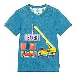 9faaf5d088bafb 20-25 Baker by Ted Baker - Boys  light blue truck applique top ...
