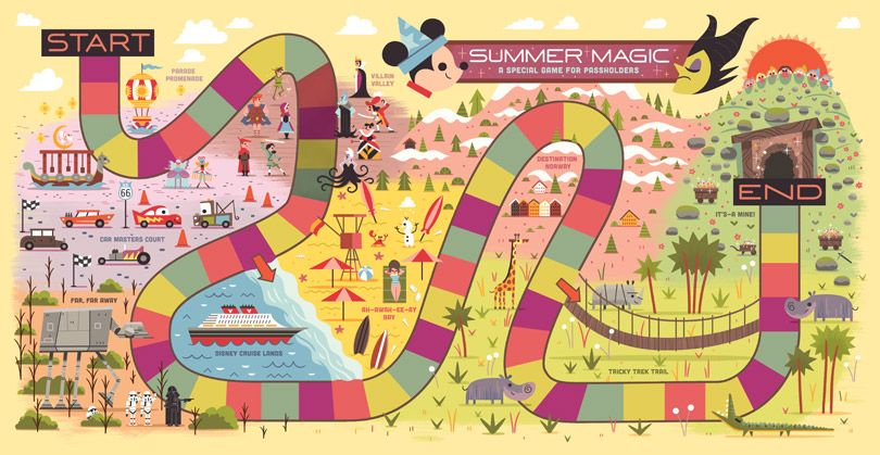 Board Game from Mickey Monitor Summer 2014 issue by Andrew Kolb