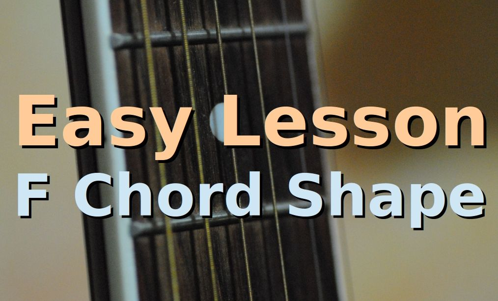 How To Play F Major Chord One Chord Easy Beginners Guitar