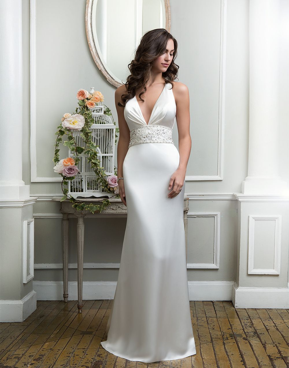 Lillian West Lillian West Style 6374 Charmeuse Fit And Flare - Td Wedding Dresses