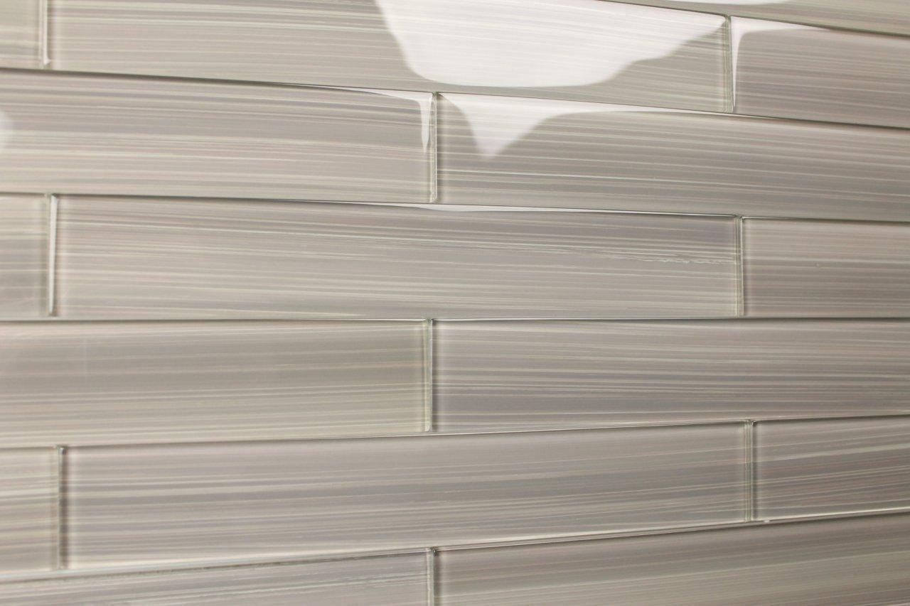 Grey Glass Tile Backsplash Painted Glass Subway Tile This