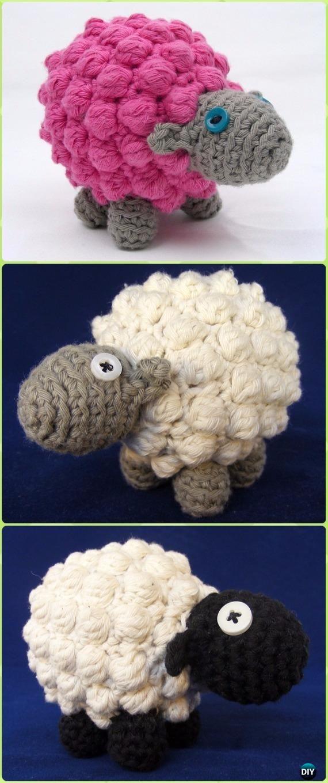 Crochet Bobble Sheep Amigurumi Free Pattern - Crochet Sheep Free ...