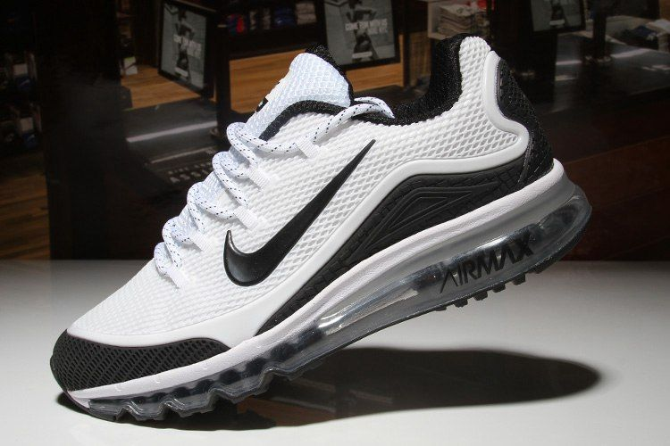 best service 63ff4 9ee74 Nike Air Max 2018 Elite Hot White Black Shoes For Men
