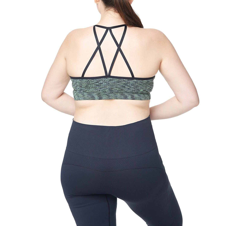 Women's Plus Size Low Impact Strappy Back
