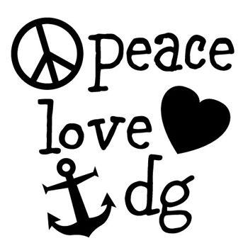 Peace, love & dg