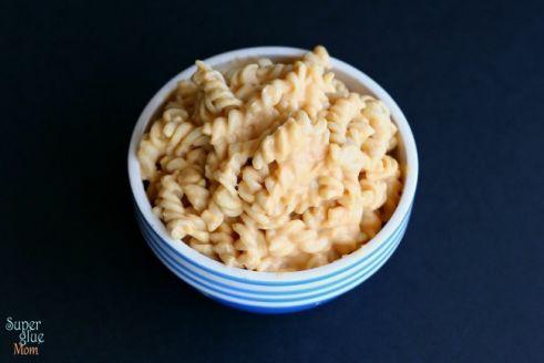 Creamy Vegan, dairy free and gluten free better than boxed homemade macaroni and cheese SuperGlueMom.com