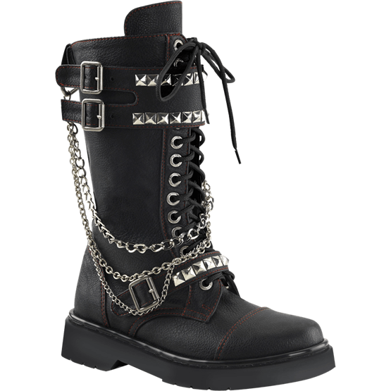 Studded and Chained Womens Combat Boots is part of Clothes Hipster Combat Boots -