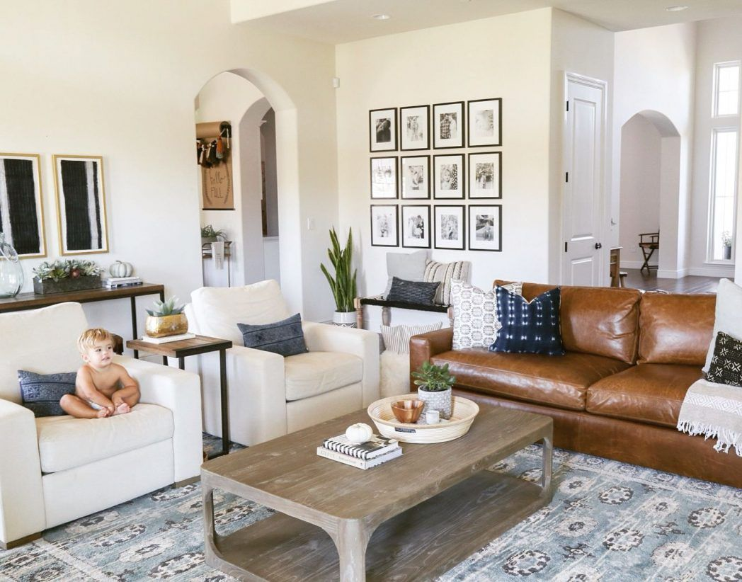 - Boho Leather Couches Living Room Ideas - Google Search Leather