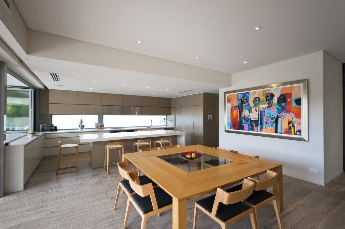 Fabulous conemporary kitchen & dining with modern timber