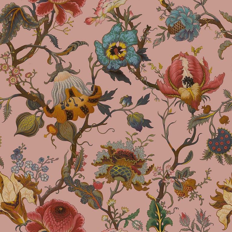 Think pink for SS16 with Artemis Wallpaper, playing homage to William Morris' iconic designs and gives a contemporary slant to traditional floral interiors.