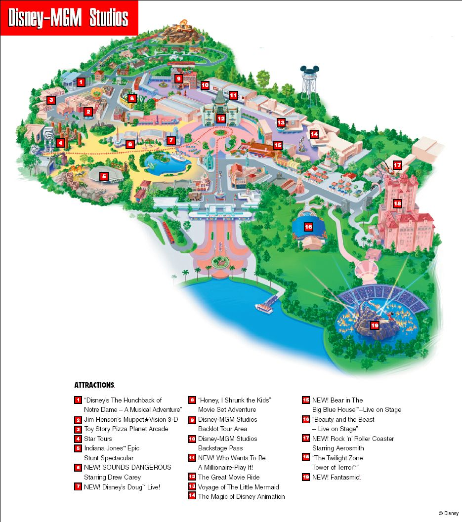 Disney-MGM Studios Map | The Most Magical Place on Earth ...
