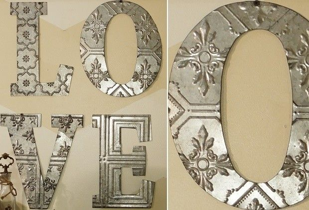 Metal Love Wall Decor | Metal Letters