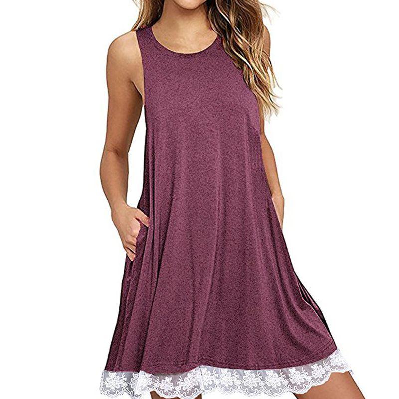 Encontrar Más Vestidos Información acerca de Lace Up Mini Vestido de ...