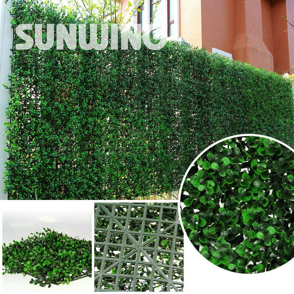 24Pcs Decorative Boxwood Hedges Panels Outdoor Plastic Artificial ...