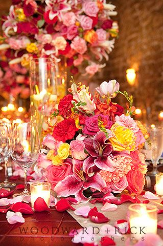 A Flower Gallery of Asheville Wedding at Biltmore Estate's Champagne Cellar venue  #Wedding #Flowers #Centerpiece
