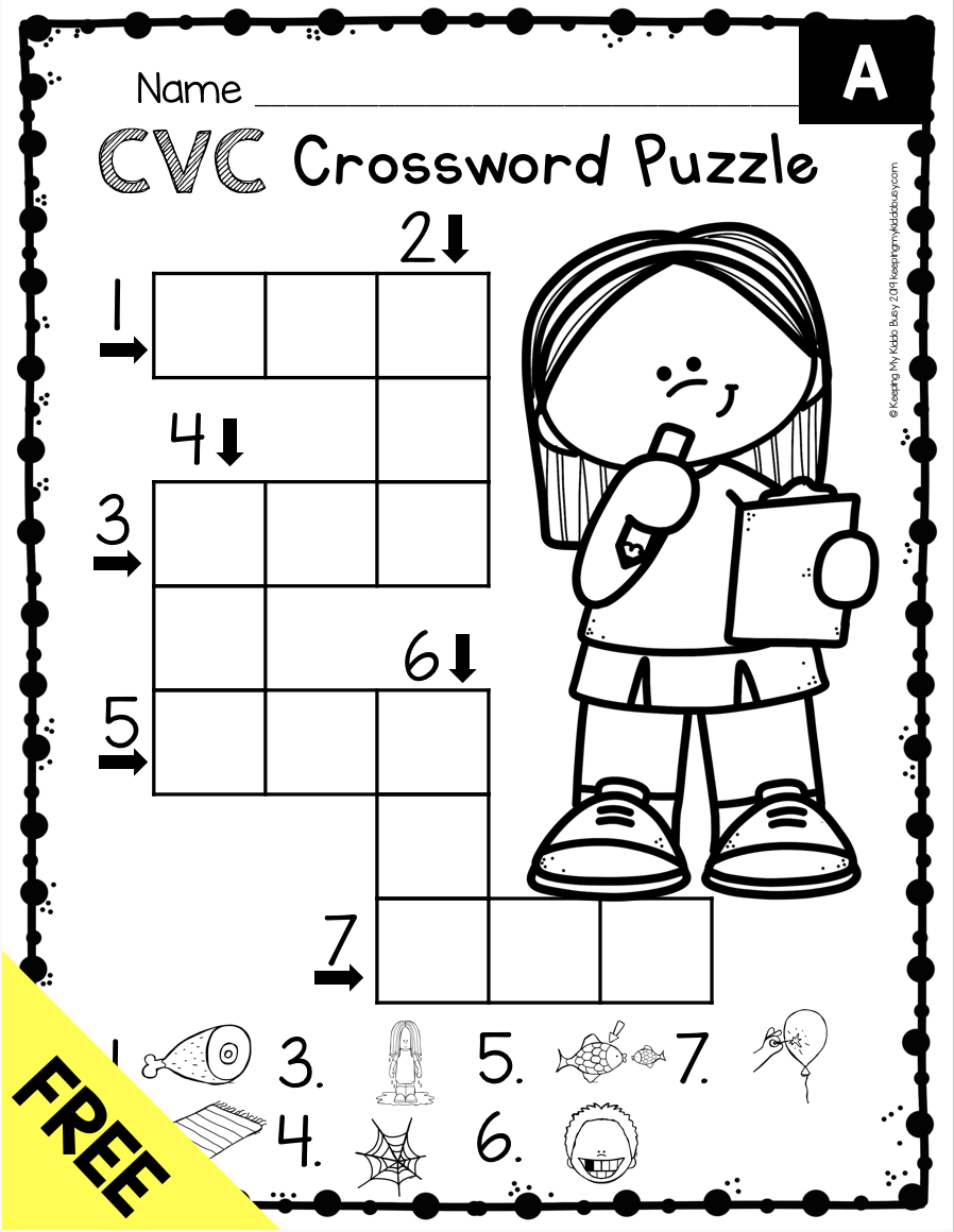 Phonics Unit 4 - CVC Words \u0026 Word Families FREEBIE — Keeping My Kiddo Busy    Phonics kindergarten [ 1160 x 898 Pixel ]