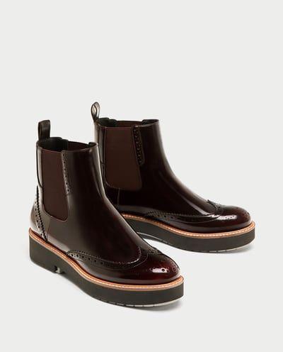 Y Elásticos Botas Mujer Rebajas Botín Plano Botines Zapatos Zara gtFwvnA