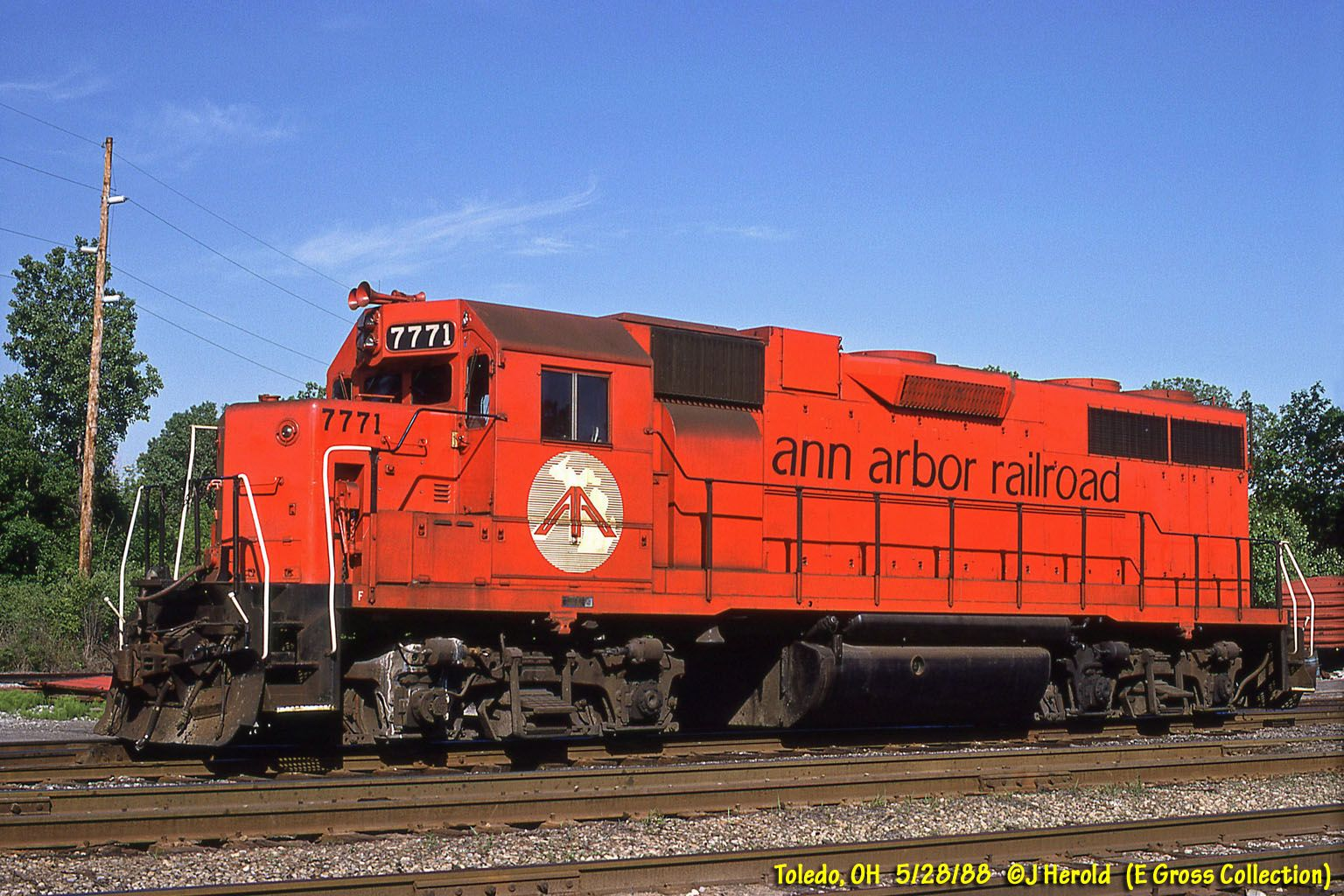 EMD GP38 Ann arbor, Railroad, Michigan