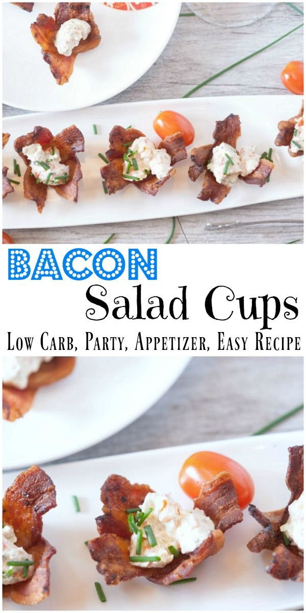 Fantastic and easy appetizer recipe for a party. I love the crispy bacon and the creamy salad inside #ad