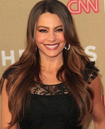 Sofia Vergara's Glossy Long Layered Hairstyle