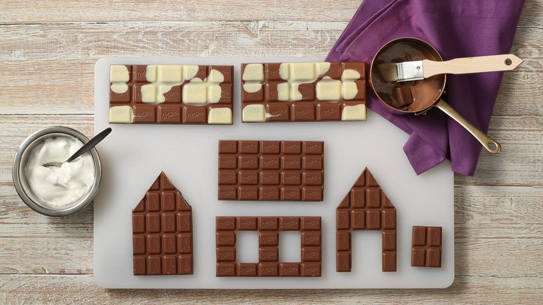 Bastel dir dein persönliches Weihnachtshäuschen aus Schokolade