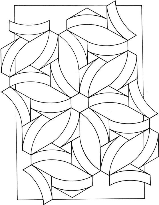 geometric shapes cartoon coloring page | printable patterns ... - Coloring Pages Designs Shapes
