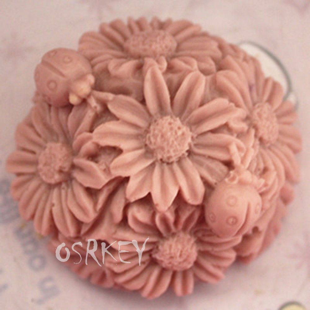 Flowers s silicone soap mold craft molds diy handmade soap mould