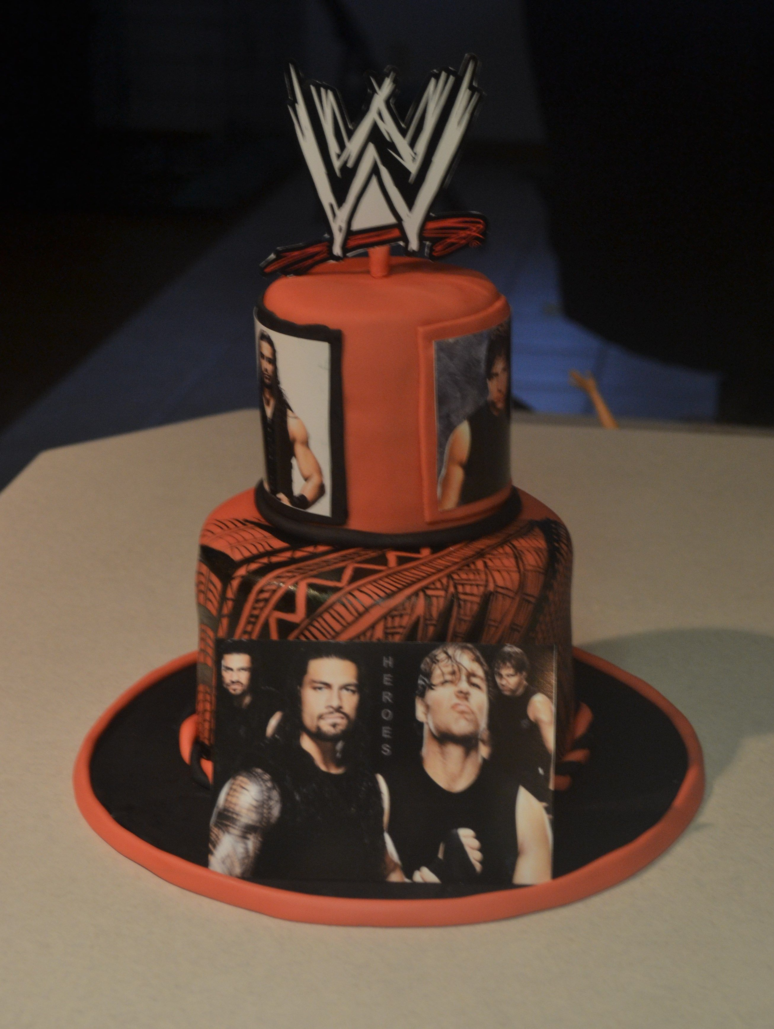 WWE cake just because Pinterest Wwe cake Cake and Wwe party