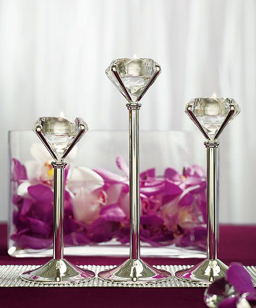 Diamond table decorations (candle)