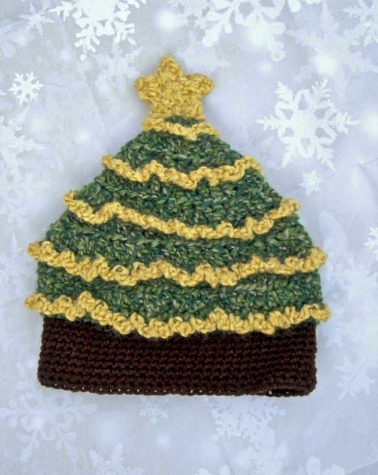 bf0b554697b46 ... Light Me Up Christmas Tree Hat Free Crochet Pattern Crochet ...