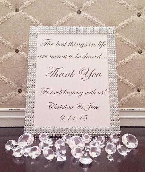 5c79d91cfc3 Bling Wedding Thank You Sign