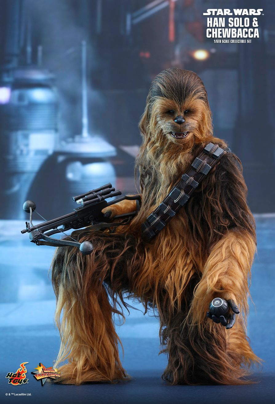 Hot Toys : Star Wars: The Force Awakens - Han Solo and Chewbacca 1/6th scale Collectible Figures Set