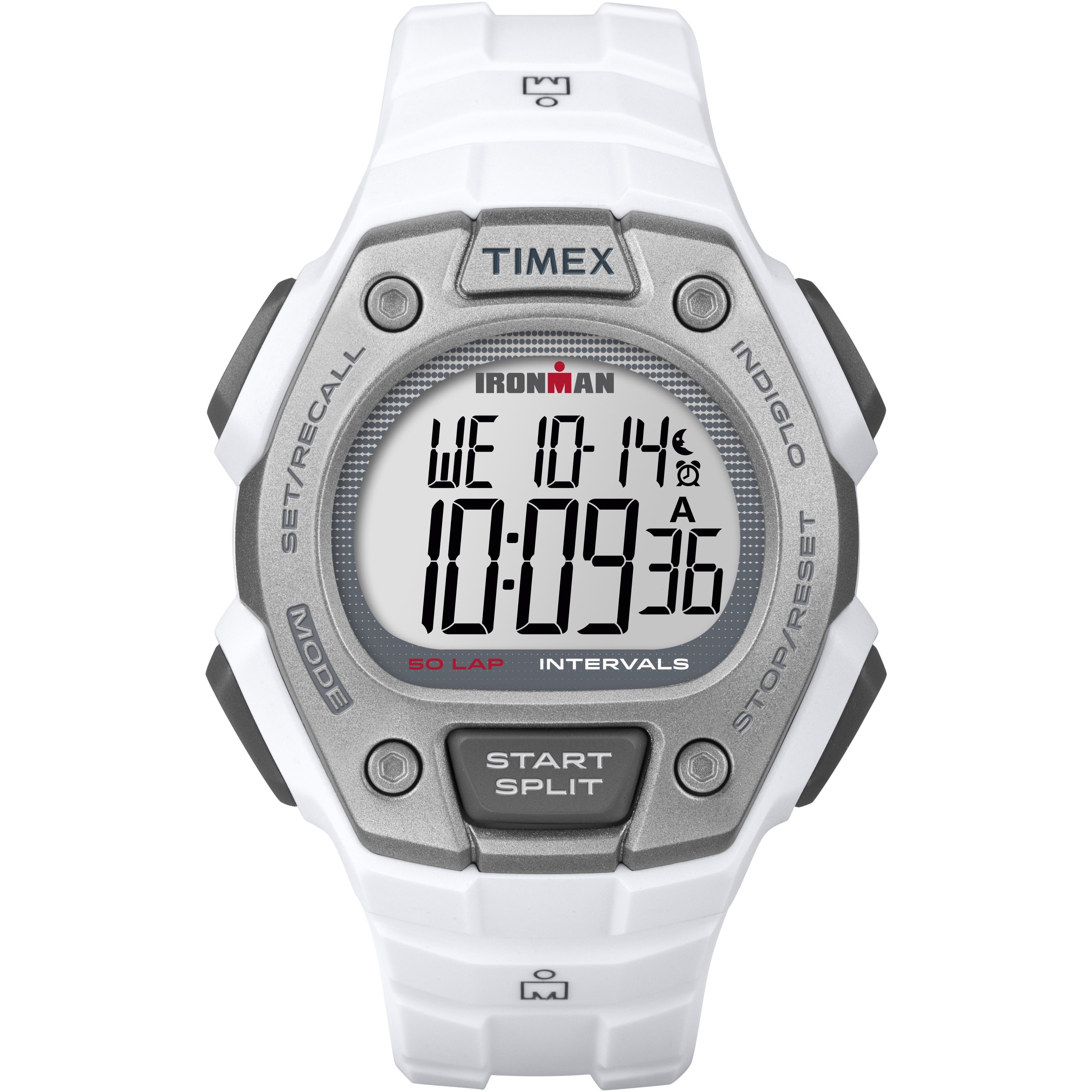 Timex Men s TW5K88100 Ironman Classic 50 Full-Size  Gray Resin Strap Watch 68901c08af